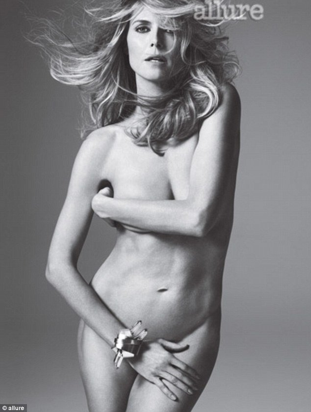 Heidi Klum proved she's still worthy of the supermodel title as she posed nude for the May issue of Allure magazine