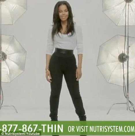 Janet Jackson looks confident and happy after Nutrisystem weight loss programme helped her shed the pounds