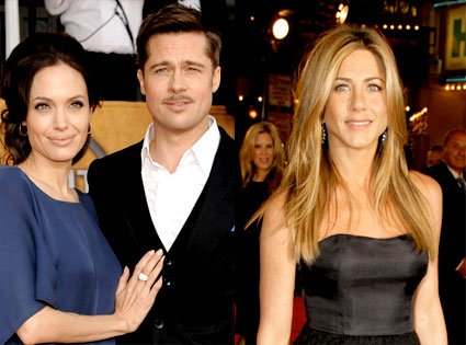 Jennifer Aniston is said to be delighted for Brad Pitt and Angelina Jolie after hearing the couple are set to wed