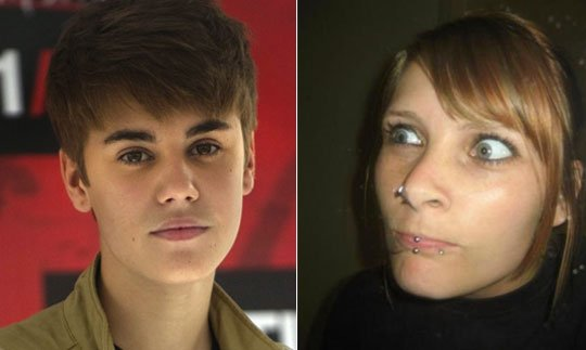 Justin Bieber has used a humorous clip of Sacha Baron Cohen as Borat to send Mariah Yeater a message