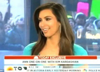 Kim Kardashian was asked about her relationship with Kanye West on the Today show this morning
