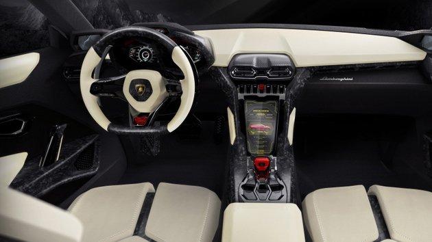 Lamborghini Urus inside
