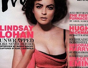 Lindsay Lohan was just 19 when she posed as Elizabeth Taylor for the June issue of Interview magazine