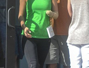 Model Lauren Scruggs ventured out in public with her stump on display for the first time