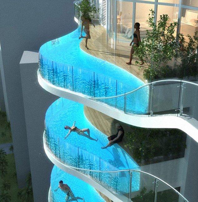 Mumbais Aquaria Grande skyscrapers will have swimming pools instead of balconies photo