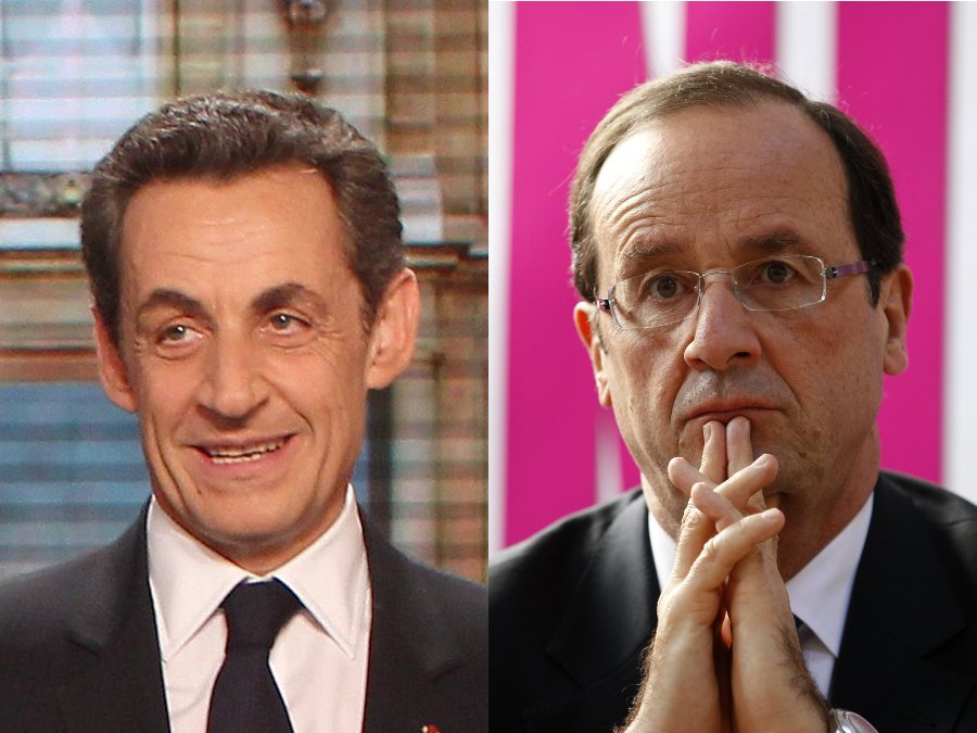 "Nicolas Sarkozy is facing a tough challenge from Socialist Francois Hollande, who has said it is ""the left's turn to govern"""