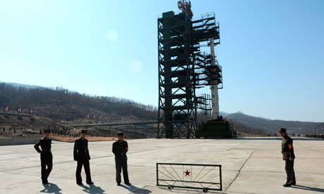 North Korea has made the arrangements to put into position a long range rocket for a controversial launch next week photo