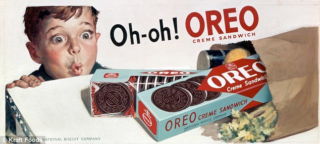 Oreo cookies 1951 advert