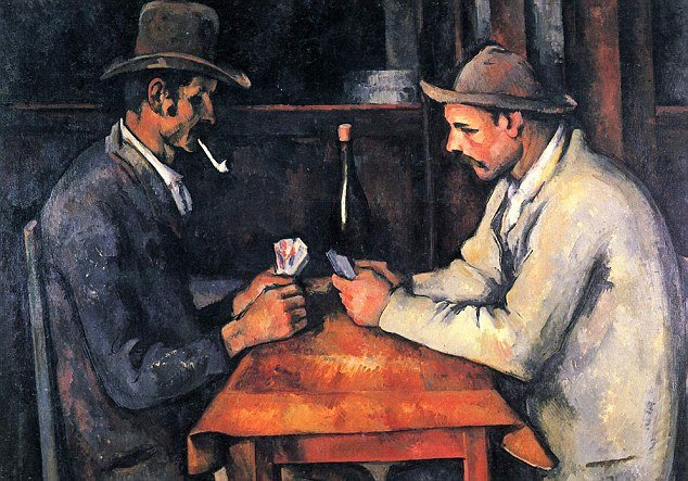 Paul Cezanne's painting Two Card Players is said to have been sold for $250 million