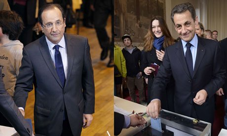 President Nicolas Sarkozy faces an uphill struggle in the second round of the French presidential election, after coming second in Sunday's first vote