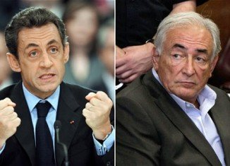 President Nicolas Sarkozy has rejected claims by Dominique Strauss-Kahn that his party was behind former IMF chief's downfall