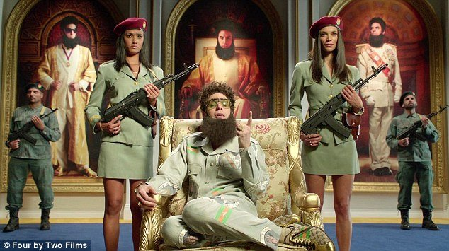 """Sacha Baron Cohen wished Her Majesty well for her upcoming """"blood diamond"""" jubilee and said he hoped it was a smooth transition when Prince Charles kills her and takes the throne"""
