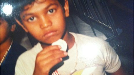 Saroo was only five years old when he got lost in 1986 photo