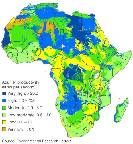 Scientists have mapped in detail the amount and potential yield of this groundwater resource across Africa
