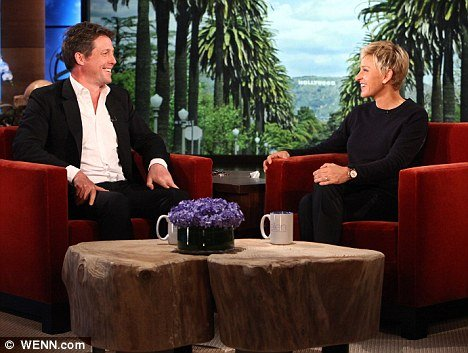 """Speaking on the Ellen DeGeneres Show yesterday, Hugh Grant admitted that becoming a dad has been """"life changing"""" and he would highly recommend it to everyone"""