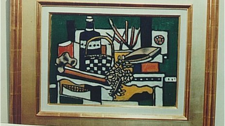 The Blue Bottle by Fernand Leger was found in the estate of a German art dealer