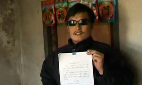 "Unconfirmed reports say Chen Guangcheng is under ""US protection"" while talks take place with Chinese officials"