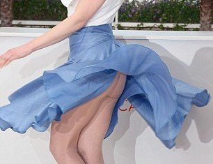 "Arta Dobroshi shows her derriere in embarrassing ""Marilyn Monroe"" moment at Cannes Film Festival 2012"
