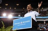 Barack Obama targeted swing states Ohio and Virginia that are critical for his bid to remain in the White House