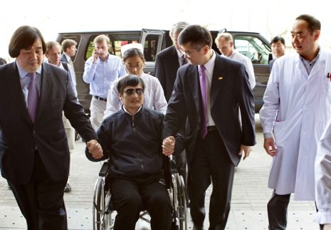 China says activist Chen Guangcheng can apply to study abroad, potentially indicating a way out of the diplomatic crisis with the US over him