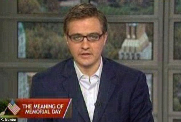 "Chris Hayes has caused outrage on Memorial Day by saying he feels ""uncomfortable"" branding soldiers who have died in battle ""heroes photo"