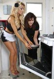 Courtney Stodden and her mother Krista celebrated Mother's Day together by cooking up a storm in the kitchen and baking a cake