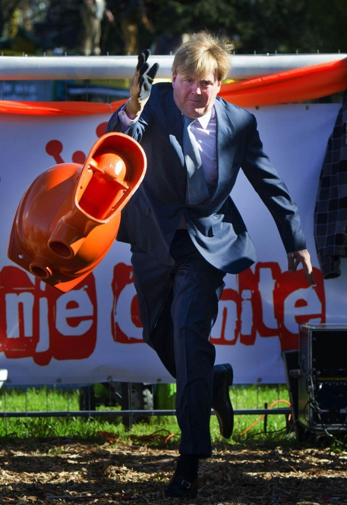 Crown Prince Willem-Alexander, the heir to the Dutch throne, made a media splash by hurling a toilet for fun in a contest recently