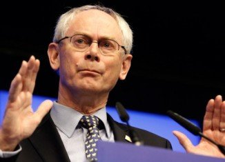 """European Council President Herman Van Rompuy has announced that EU leaders want Greece to remain in the eurozone but to """"respect its commitments"""""""