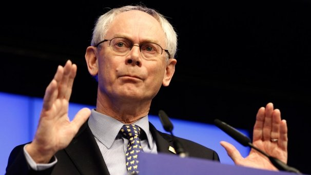"European Council President Herman Van Rompuy has announced that EU leaders want Greece to remain in the eurozone but to ""respect its commitments"""