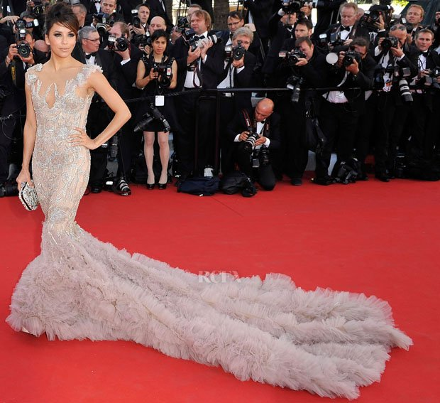 Eva Longoria was among the famous faces on the red carpet at the opening night gala of this year's Cannes Film Festival