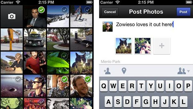 Facebook's Camera photo sharing app offers users similar tools to Instagram which the social network is in the process of taking over
