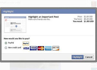 Facebook is now testing a system that allows users pay to highlight or promote posts
