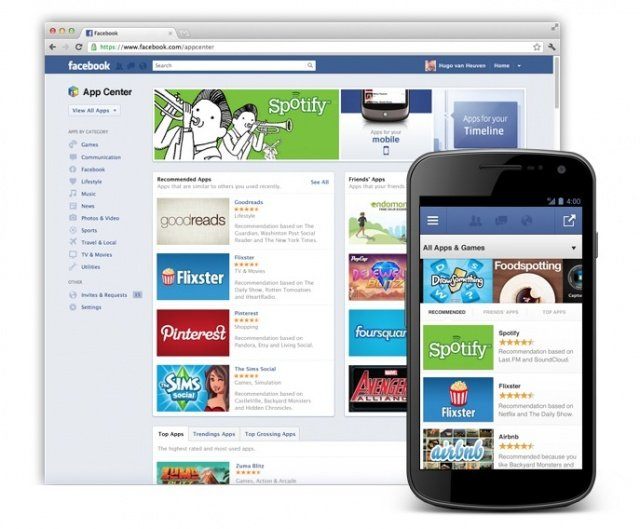 Facebook launches its own app store to promote mobile programs that operate using the social network