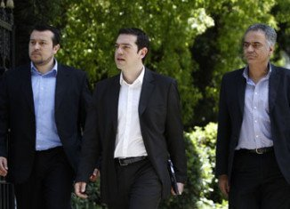 Greek moderate Democratic Left party says it will not join pro-bailout parties in a coalition without the more radical far left Syriza