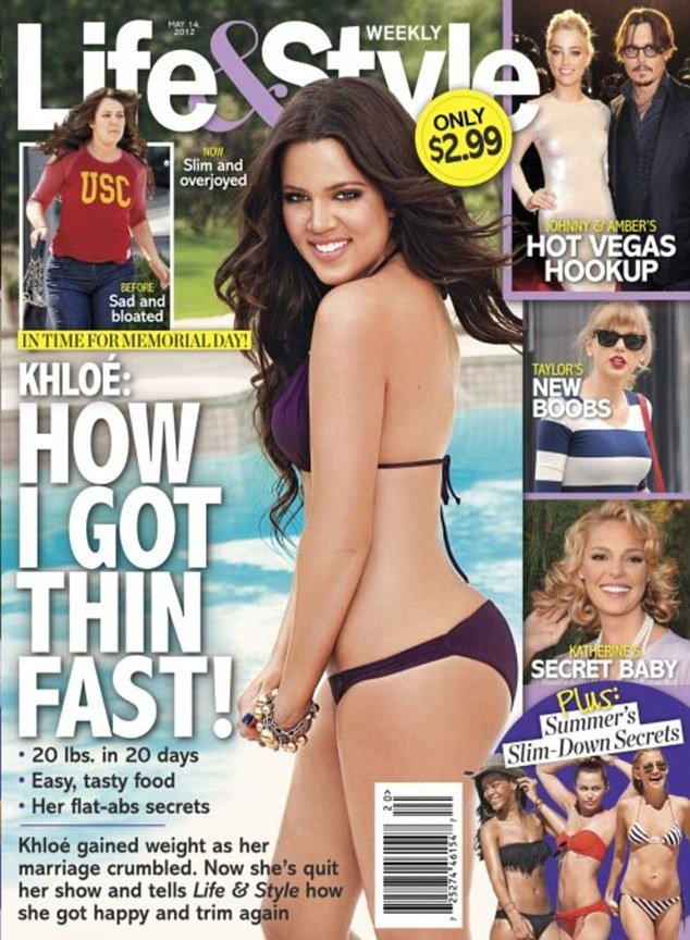 Khloe Kardashian has spoken of her delight after losing an astonishing 20lbs in just 20 days