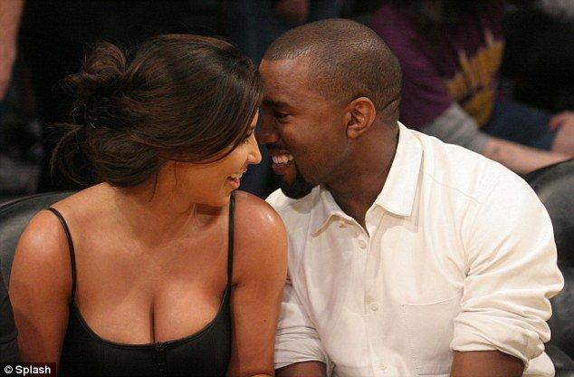Kim Kardashian and Kanye West PDA at LA Lakers game
