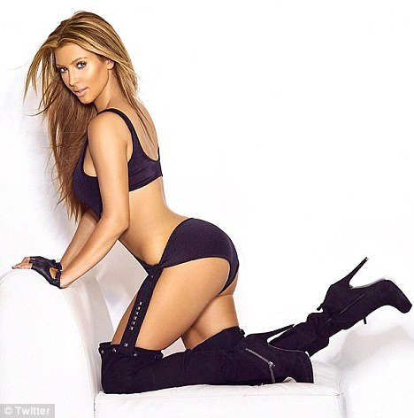 Kim Kardashian tweeted photographs of herself as a blonde back in 2009