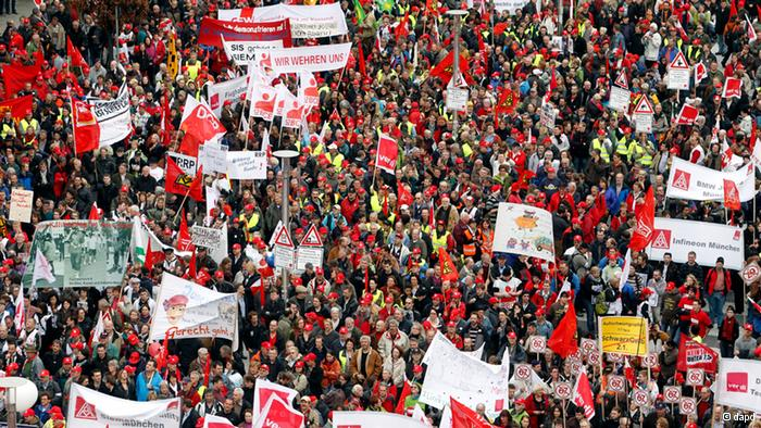 Labor demonstrations marking May Day are taking place across the world, with the main focus on Europe