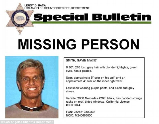 Los Angeles police are searching for Gavin Smith, a missing movie executive who disappeared on Tuesday