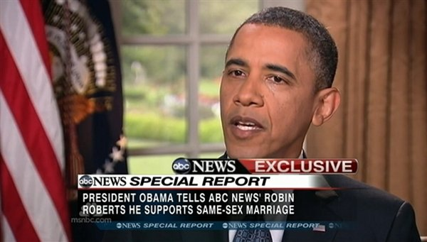 Barack gay issue obama