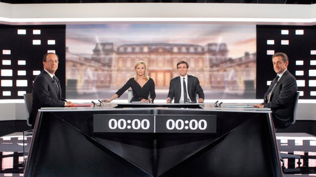 President Nicolas Sarkozy and his rival Francois Hollande have traded insults in their only TV debate of the election campaign