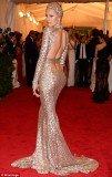 Sofia Vergara's sensational Marchesa silver lace column dress