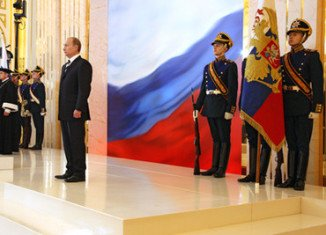 Vladimir Putin is back to Kremlin where he is inaugurated as president of Russia in a ceremony in Moscow