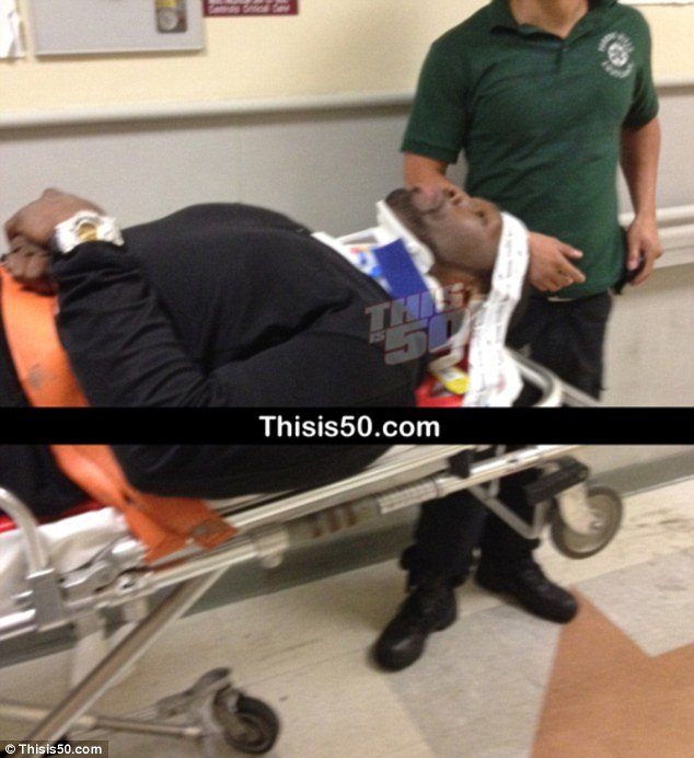 50 Cent has been hospitalized after being involved in a serious car accident in New York City in the early hours of this morning