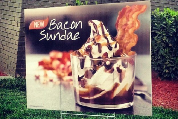 Burger King introduces the limited time dessert Bacon Sundae today as part of its new summer menu photo
