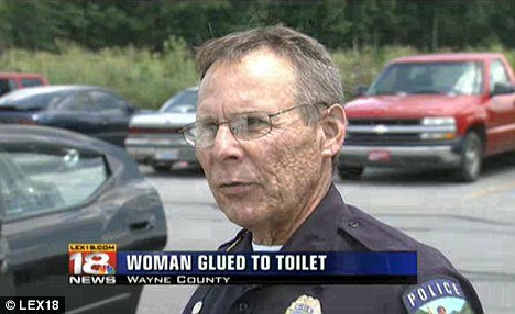 Chief Ralph Miniard said police is investigating the incident that left the woman stuck on the toilet seat for an hour