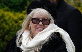 Dwina Gibb, the widow of late Bee Gees star Robin Gibb, read a heartfelt poem she had written for her husband at his funeral service
