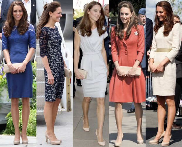 Kate Middleton wore the same 296 pair of LK Bennett nude shoes at each event photo