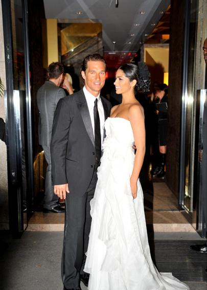Matthew McConaughey wed the mother of his two children, Camila Alves, in an intimate Saturday evening ceremony at his Austin, Texas property