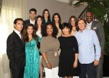 Oprah Winfrey posted a picture of herself with the whole Kardashian family as she sat down with them at Kris Jenner's home